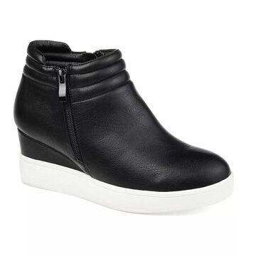 Journee Collection Remmy Women's Sneaker Wedges, Size: 7.5, Black