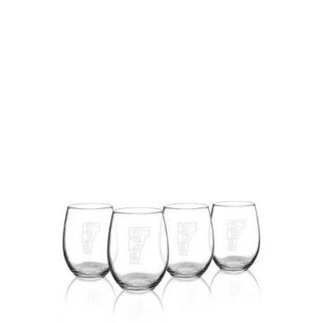 Cathy's Concepts My State Stemless Wine Glasses - Vermont -