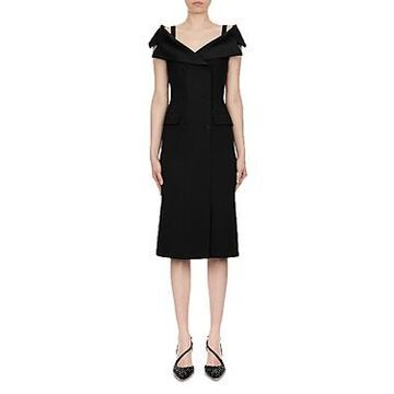 Alberta Ferretti Enver Satin Midi Dress