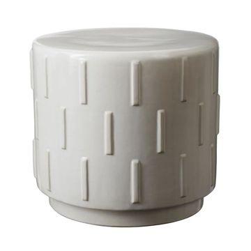 LS Dimond Home White Tread Stool