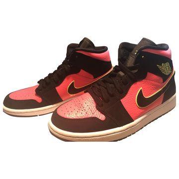 Jordan Air Jordan 1 Pink Leather Trainers