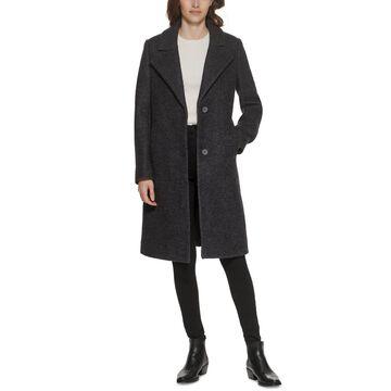 Marc New York Single-Breasted Boucle Walker Coat