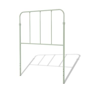 Nolan Fashion Kids Metal Headboard Panel with Fun Versatile Design, Mint Green Finish, Full