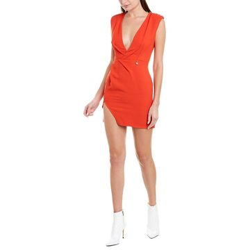 Elisabetta Franchi Womens Wool-Blend Mini Dress