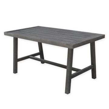 Vifah Renaissance Patio Dining Table in Grey