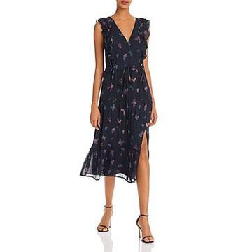 Paige Basil Butterfly-Print Silk Dress