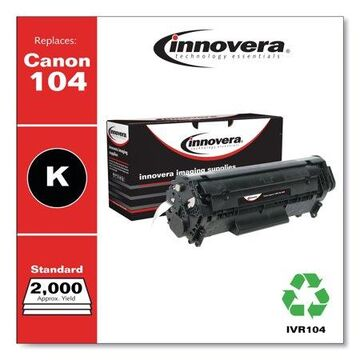Innovera Remanufactured Black Toner Cartridge, Replacement for Canon 104 (0263B001AA), 2,000 Page-Yield -IVR104