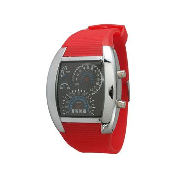 Olivia Pratt Mens Red Silicone Digital Watch 8144Red