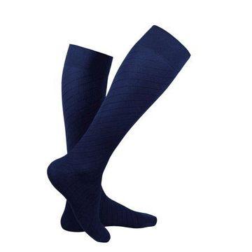 Truform Knee High Travel Sock, 15-20 mmHg, Navy, Small