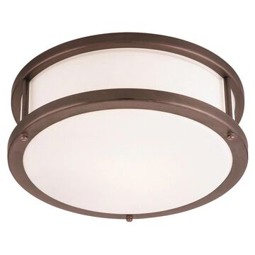 Access Lighting Conga 1-light Bronze12-inch Flush Mount