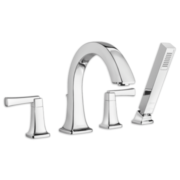 American Standard Townsend 2-Handle Deck Mount Tub Faucet in Polished Nickel