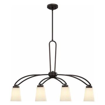 Canarm Somerset 4 Light Rod Chandelier in Oil Rubbed Bronze
