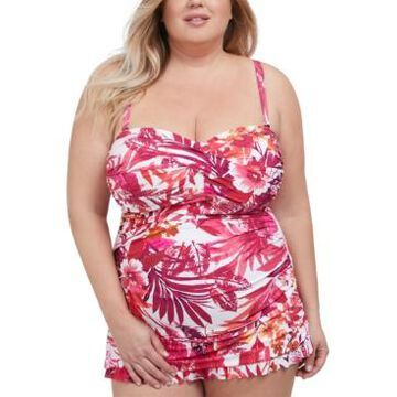 Profile by Gottex Plus Size Bali Escape Printed Swimdress Women's Swimsuit