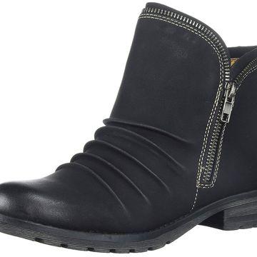 NATURAL SOUL Women's Brisha Ankle Boot, Black, Size 7.0