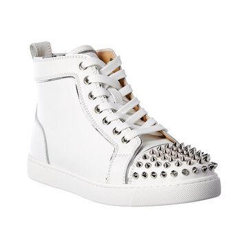 Christian Louboutin Lou Spikes Leather Sneaker
