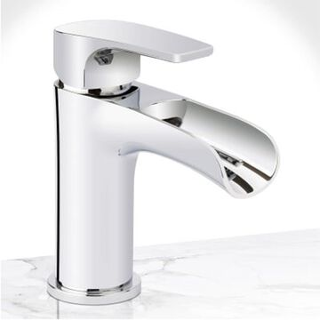 Miseno Cascade Polished Chrome 1-Handle Single Hole WaterSense Bathroom Sink Faucet with Drain and Deck Plate   MNO5882CP