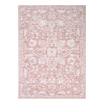 Well Woven Dazzle Disa Vintage Floral Bohemian Area Rug, Pink, 8X10 Ft
