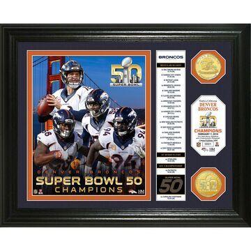 Highland Mint Denver Broncos Super Bowl 50 Champions Banner Photomint