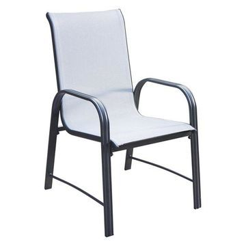 COSCO Outdoor Living Paloma Steel Patio Dining Chairs, Set of 6
