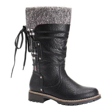 MUK LUKS Women's Joni Winter Boot Black Polyurethane/Acrylic