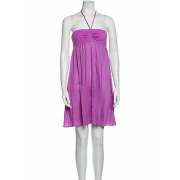 Halterneck Mini Dress Purple