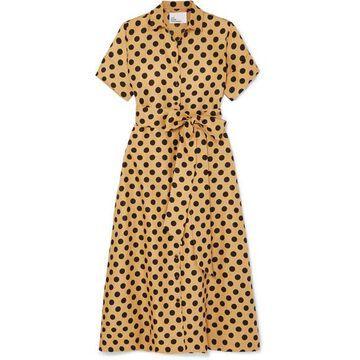 Lisa Marie Fernandez - Polka-dot Linen Midi Dress - Sand