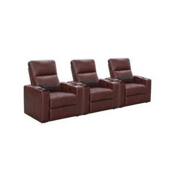 Thomas Power Faux Leather Recliner, Set of 3