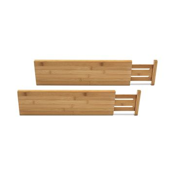 Bamboo Kitchen Drawer Dividers, Set of 2