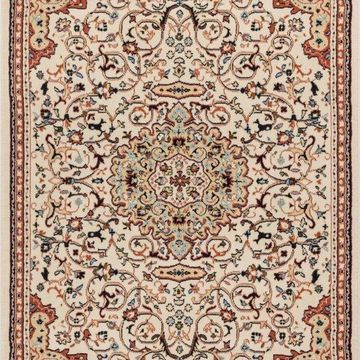Well Woven Persa Isfahan Traditional Medallion Oriental Ivory Area Rug