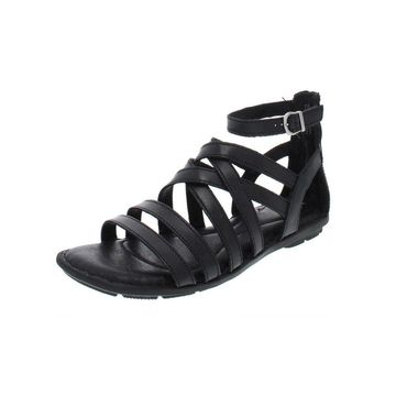 Born Womens Giverny Flat Sandals Leather Strappy