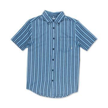 Men's Rainker Striped Woven Short Sleeve Shirt