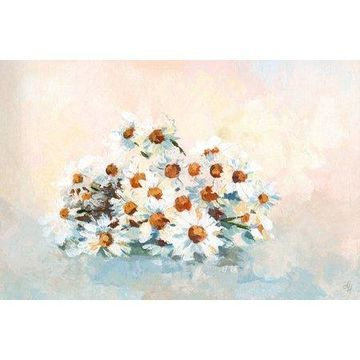 Marmont Hill Bushel of Daisies Canvas Wall Art