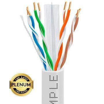 1320-N Cat6 Bulk Plenum Ethernet 23AWG Cable - 550MHz, 1000 ft. - White