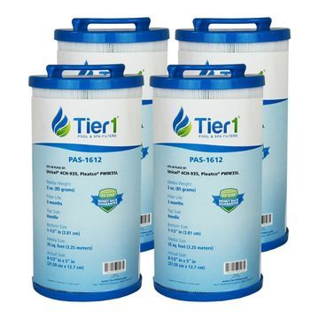 Tier1 35 Waterway 817-4035, Teleweir 35 SF, Pleatco PWW35L, Unicel 4CH-935 Comparable Replacement Filter Cartridge (4-Pack)