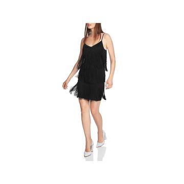 1.State Womens Party Dress Fringe Mini