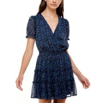 Trixxi Printed Tiered Dress