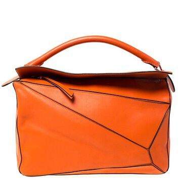 Loewe Orange Leather Puzzle Bag