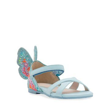 Chiara Embroidered Butterfly Sandals, Toddler