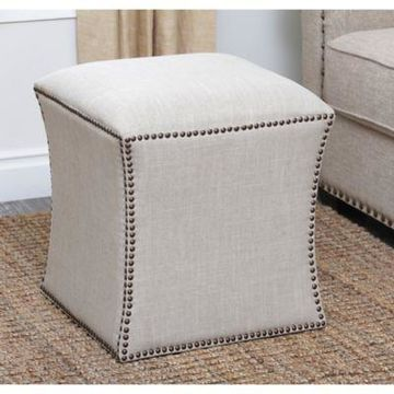 Abbyson Living Kimberly Ottoman in Cream