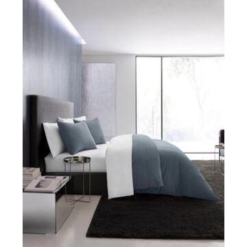 Vera Wang Waffle Pique Midnight Blue Duvet Set, Queen Bedding