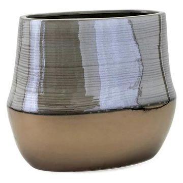 Imax Ceramic Vase With Multi-Color Finish 25490