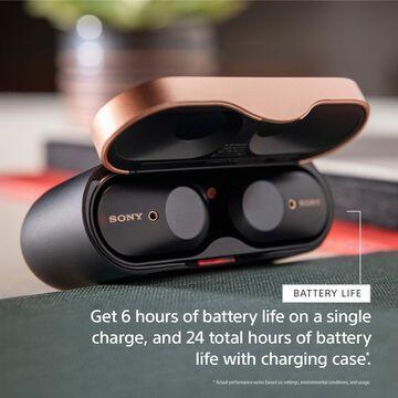Sony WF-1000XM3 Noise Canceling Wireless Earbuds (Black) with Deco Gear Bag Bundle
