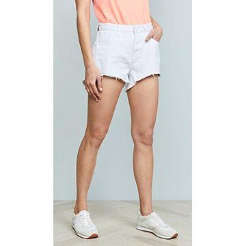 One Teaspoon White Beauty Trucker Shorts