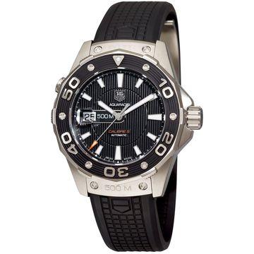 Tag Heuer Men's WAJ1110.FT6015 'Aquaracer' Black Rubber Watch