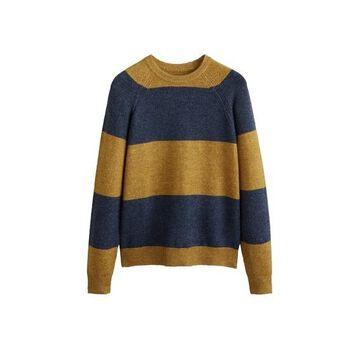 MANGO MAN Textured bicolor sweater