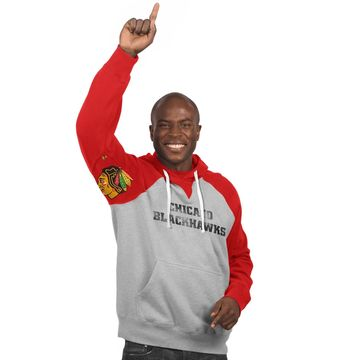 Chicago Blackhawks Hands High Pullover Hoodie - Gray