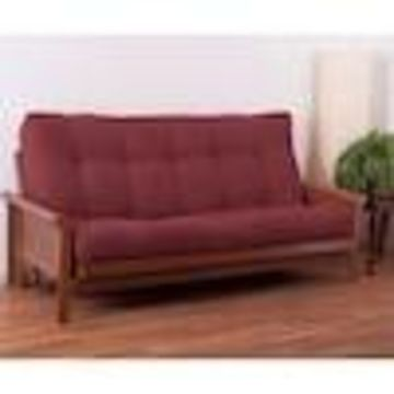 Blazing Needles Tranquil Rest Red Wine Queen Futon Mattress