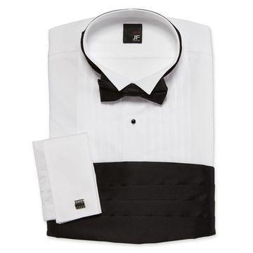 JF J. Ferrar Tuxedo Shirt SetBig & Tall