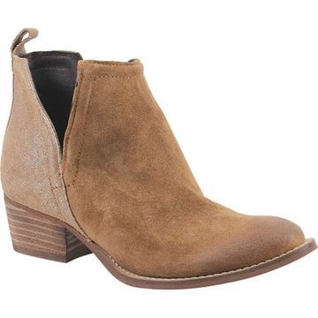 Diba True Women's Stop By Ankle Boot Whiskey/Cognac Suede/Leather