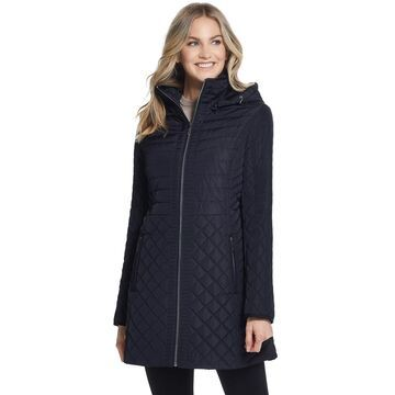 Women's Gallery Plush Hood Quilted Coat